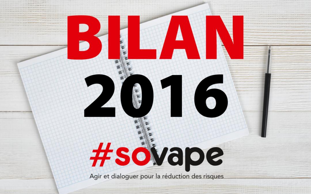 Bilan 2016 de l'association SOVAPE