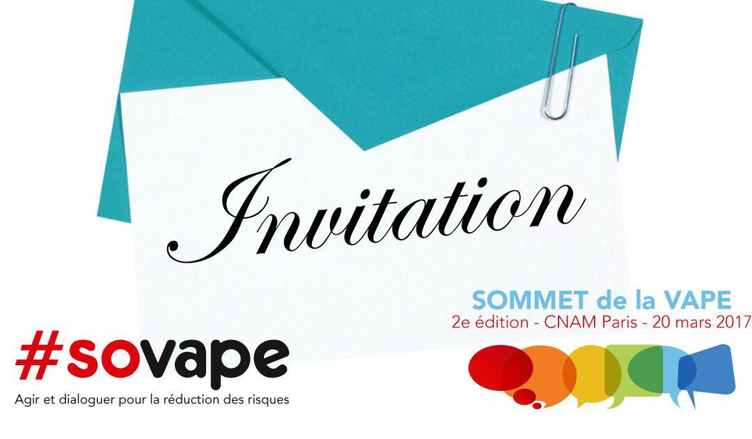L'association SOVAPE invite les candidats à la présidentielle au 2e Sommet de la Vape