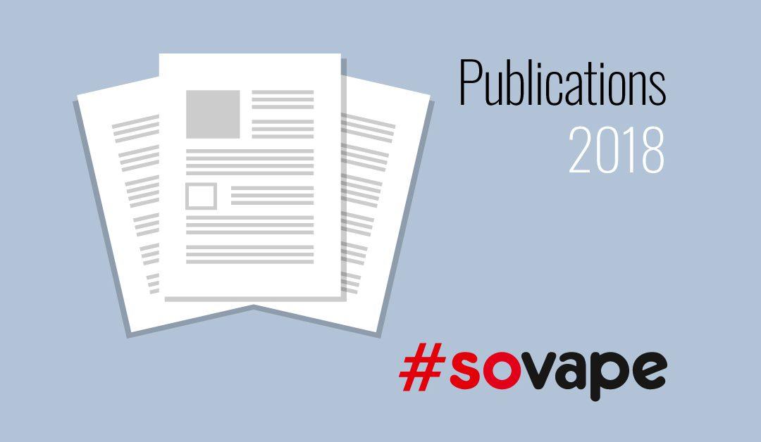 SOVAPE, publication vapotage et réduction des risques