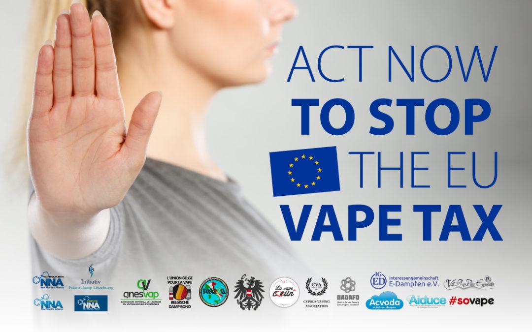 Signez la pétition pour dire NON aux taxes européennes sur la vape !