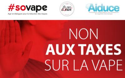 Taxes sur le vapotage : les vapoteurs français mobilisés
