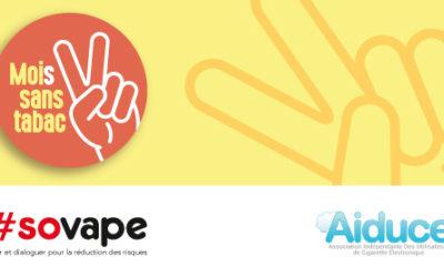 Mois Sans Tabac 2018 : Santé Publique France soutient financièrement l'auto-support de la vape.