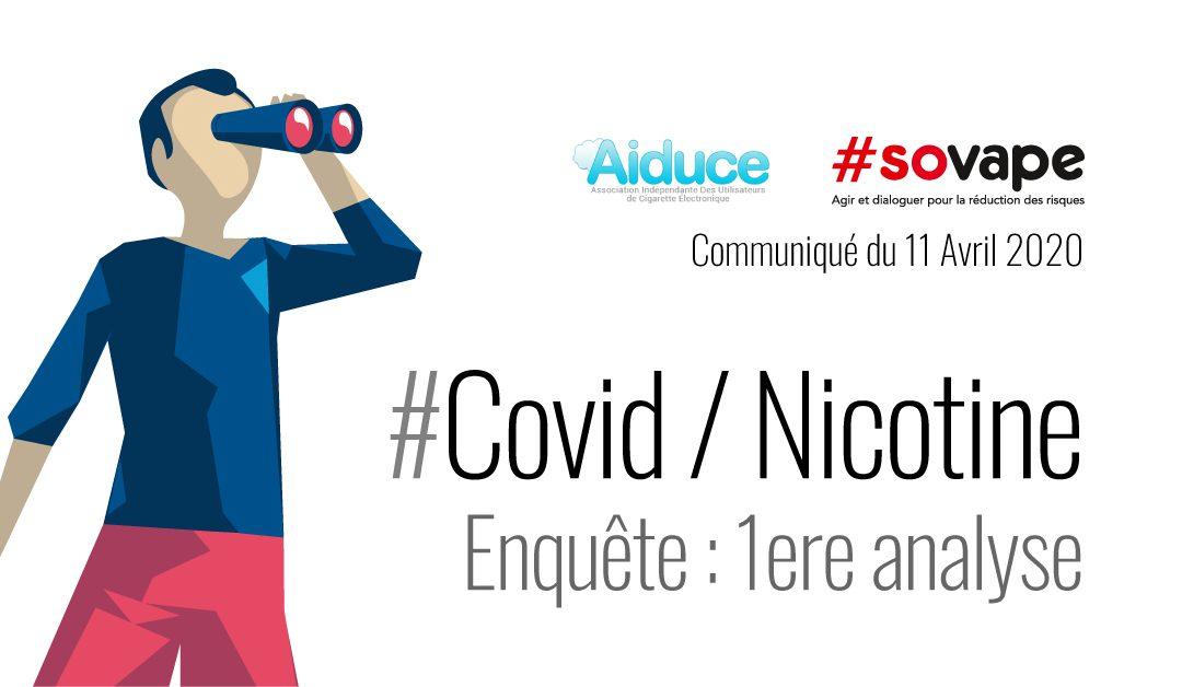 Nicotine et Covid-19: une enquête auprès de plus de 5000 vapoteurs