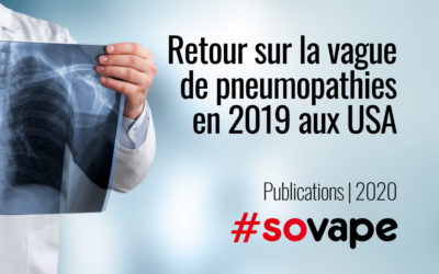 Retour sur la vague de pneumopathies de 2019 aux USA (EVALI)