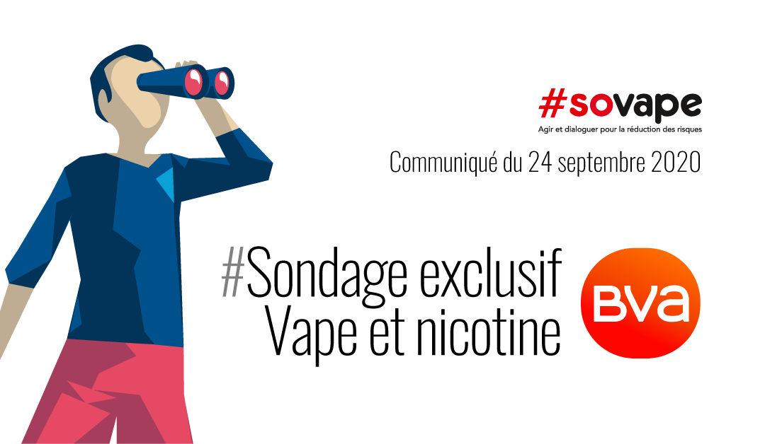 Sondage exclusif BVA pour Sovape : perceptions des risques vape et nicotine