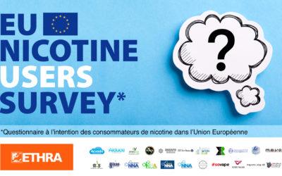 ETHRA lance une grande enquête sur les utilisateurs de nicotine en Europe